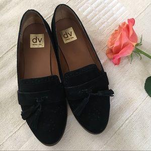 Dolce Vita black suede loafer slip on shoes 8.5